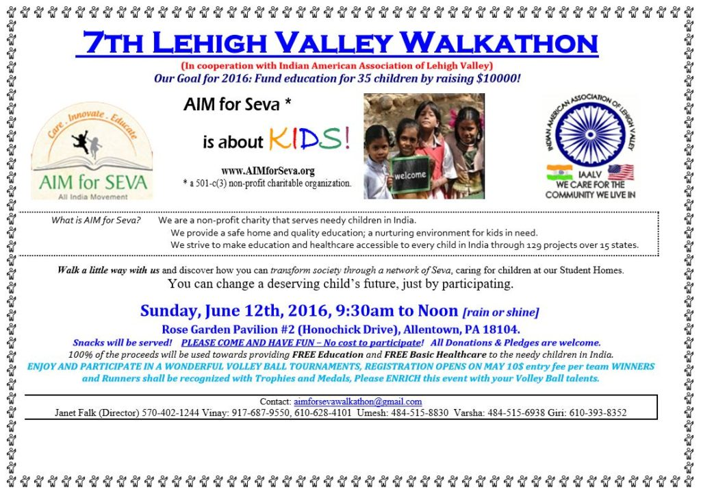 AIM for Seva Walkathon